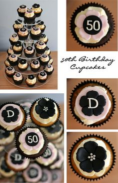 50th Birthday #Cupcakes