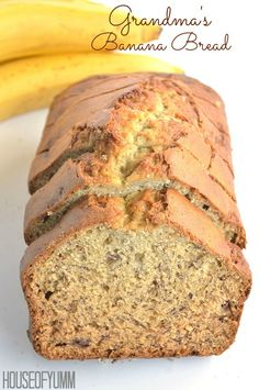 Grandma's Banana Bread!  Moist, flavorful, easy to make.  Best Banana Bread EVER!