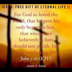 John 3 16 kjv for god so loved the world that he gave his only