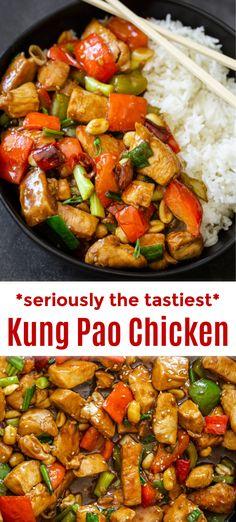 Easy Chicken Recipes, Turkey Recipes, Beef Recipes, Easy Kung Pao Chicken Recipe, Cooking Recipes, Healthy Recipes, Healthy Meals, Asian Dinner Recipes, Asian Recipes