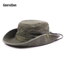 GEERSIDAN Men s Bob Summer Bucket Hats Outdoor Fishing Wide Brim Hat UV  Protection Cap Men Hiking 5d8ba55927da
