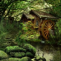 Little cottage in the woods - fairy forest / fairytale house / home Cottage In The Woods, Cozy Cottage, Cabins In The Woods, Forest Cottage, Forest Cabin, Forest House, Garden Cottage, Beautiful Homes, Beautiful Places