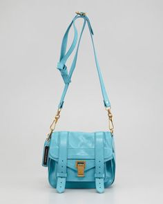 I love this turquoise color in a bag especially #proenzaschouler