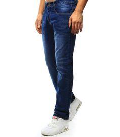 Modré džínsové nohavice