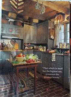 I've kept this magazine photo of this kitchen for years! Love it!