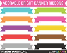 50% OFF SALE Clip Art Banner Ribbons Digital Scrapbook Commercial Use Scrapbooking Embelishment         February 04, 2014 at 12:09AM