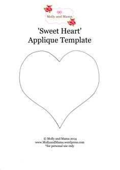 'Sweet Heart' Applique T-Shirt Tutorial - Molly and Mama Makes