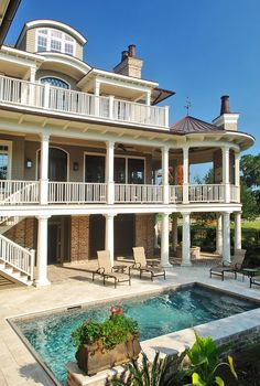 I picture these porches facing the beach...Heaven!