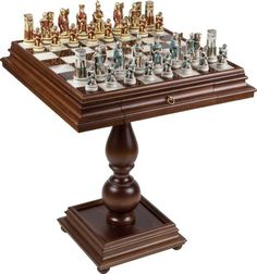 Amazing Cleopatra Queen Of The Nile Chessmen Monticello Chess Table From Italy **  Check Out This