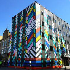 DREAM COME TRUE BUILDING SHOREDITCH LONDON - Camille Walala