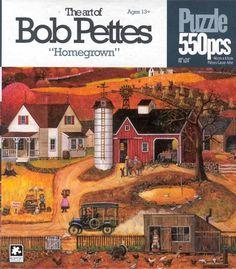Bob Pettes 550 pc  Jigsaw Puzzle:Homegrown-NIB #KarminInternational