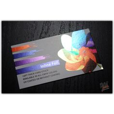 This is awesome!  Inline Foil Business Cards #printjuce http://printjuce.com/inline-foil-business-cards.html