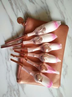 rose gold rose makeup brushes available needed contact muafan@aliyun.com