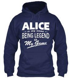 Alice Name, Legend Game Navy Sweatshirt Front