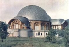 The first Goetheanum designed by Rudolf Steiner. Begun in 1913, it opened in 1920 and was destroyed by fire on New Year's Eve 1922/23.