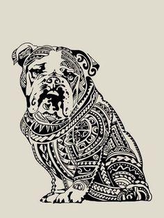 Polynesian English Bulldog by Huebucket FREE... | HUEBUCKET