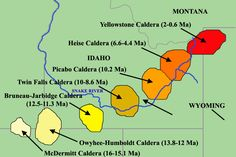 Plate Tectonics - Yellowstone Caldera is yellowstone going to erupt - Yellow Things Yellowstone Volcano, Yellowstone Camping, Yellowstone National Park, National Parks, 10 Interesting Facts, Awesome Facts, Twin Falls, Plate Tectonics, Minerals