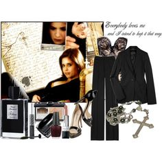 A fashion look from January 2009 featuring K Karl Lagerfeld jackets, wool pants and patent leather shoes. Browse and shop related looks. Dark Fashion, Fashion Looks, Female Fashion, Bad Girl Style, Cruel Intentions, Halloween Outfits, Halloween Ideas, Halloween Costumes, Black Magic Woman