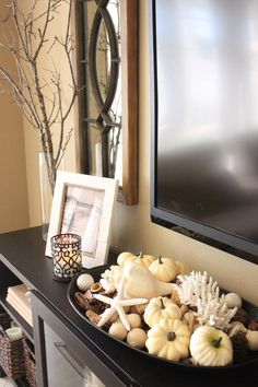Coastal fall decor