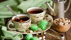 Biscuits and tea cup food abstract HD Wallpaper
