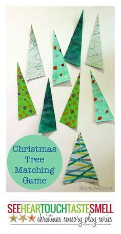 Christmas Tree matching game :: preschool Christmas math center