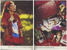 You can tell a lot about Jenny Kee from Jenny Kee's Glomesh bag. Jenny Kee, Flamingo, Jackson, Childhood, Ads, Dreams, Celebrities, Vintage, Fashion