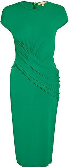 Mock Wrap Dress - Lyst