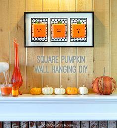 Square Pumpkin Wall Hanging DIY by Club Chica Circle.