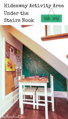 Kids LOVE chalkboard walls!  An inexpensive DIY that will occupy for hours! Via Heathered Nest.
