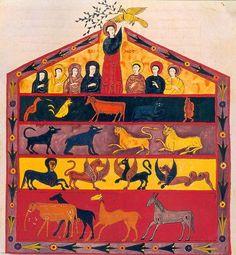 Arca de Noe. miniatura de un Beato