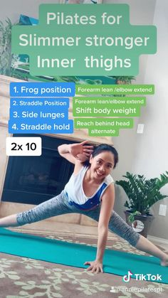 Floor Workouts, Easy Workouts, At Home Workouts, Fitness Workout For Women, Fitness Routines, Yoga Fitness, Pilates Workout, Pilates Band, Pilates Training