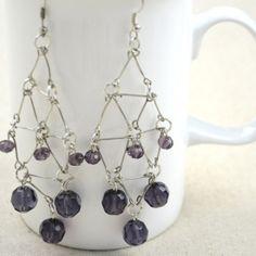 DIY earrings made with eye pins!