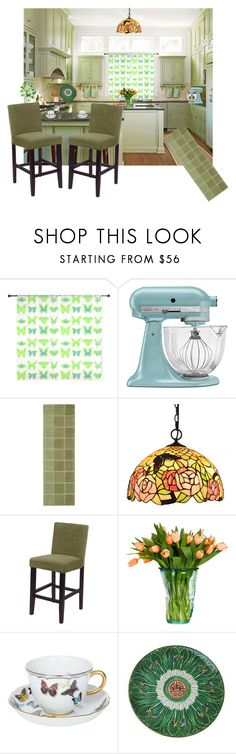 """""""Vintage Butterfly Kitchen"""" by canoe-communicationsblog ❤ liked on Polyvore featuring interior, interiors, interior design, home, home decor, interior decorating, KitchenAid, Monsoon, Christian Lacroix and kitchen"""