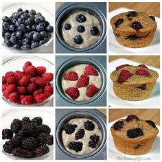 Make-Ahead Magic Muffins. 12 healthy flavors from one multi-grain refrigerator batter. No eggs, no oil. From The Yummy Life.
