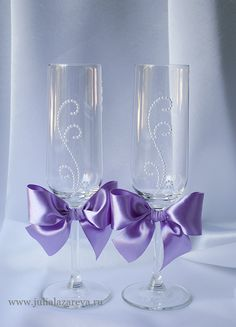 """Бокалы """"Сиреневая свадьба""""  #wedding  #violetwedding #weddingdecor #weddingaccessories #свадьба #свадебныеаксессуары"""