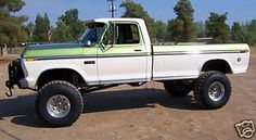 1973 F-350 Super Camper Special, Converted to 4x4, 390-V-8, 38 1/2 Monster Mudders on Alcoa Aluminum Wheels, Manual Transmission