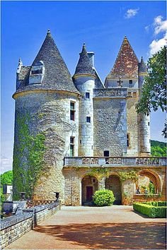 Château de Milandes, in Dordogne, France.  Built around 1489, it was the main house of the lords of Caumont until 1535.