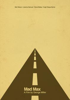 Mad Max (1979) ~ Minimal Movie Poster by Tomek Kowalik #amusementphile