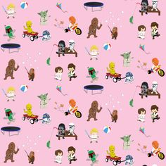 SW Kids 4x4 Fabric - Pink fabric by nixongraphix on Spoonflower - custom fabric