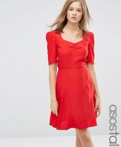 Buy Red Asos tall Knitted dress for woman at best price. Compare Dresses prices from online stores like Asos - Wossel Global Tall Dresses, Women's Dresses, Tall Women, Online Shopping Clothes, Latest Fashion Clothes, Knit Dress, Fit And Flare, Beautiful Dresses, Asos