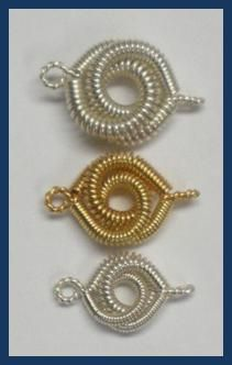 Coiled Rosette Link Examples for bracelets or a nice clasp.