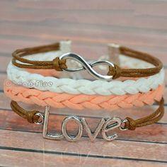 1pcs Fashion Silver Tone Infinity Love Charm DIY Bracelet Bridesmaid Gift | eBay
