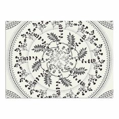 KESS InHouse Famenxt ' Magical Vibes Boho Madellion' Black Pattern Dog Place Mat, 13' x 18' -- To view further, visit now : Dog food container
