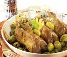 Tajine de coquelets aux olives vertes