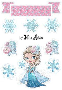 Frozen Images, Frozen Pictures, Frozen Birthday Party, Frozen Party, Birthday Party Decorations, Birthday Party Invitations, Frozen Free, Cupcake Toppers Free, Art Disney
