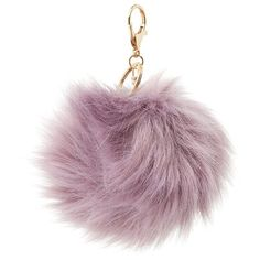 Charlotte Russe Faux Fur Ball Keychain ($2.99) ❤ liked on Polyvore featuring accessories, fillers, keyring, other, stuff, lilac, key chain rings, ring key chain, fob key chain and keychain key ring