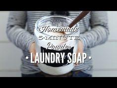 Homemade 5-Minute Powder Laundry Soap - Live Simply