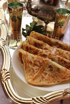 M'SEMEN nature ou avec oignons et épices. Crêpes Algériennes...