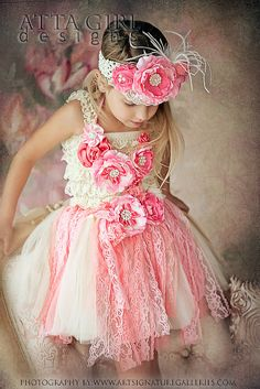 SUMMER ROSE GARDEN  Lace Tutu Skirt Romper by ATTAGirlDesigns, $126.00