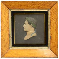 Wax Profile of Napoleon  France  19th Century  Three dimensional waxed profile portrait of young Napoleon.